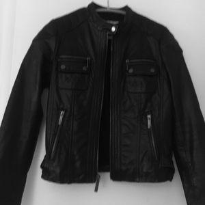Michael Kors soft leather moto jacket size small